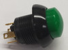 p9-213125, push button, raised green, two circuit, otto, momentary, switch, P9, otto, no, nc, normally open, normally closed, 21469