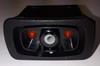 L11D1CNN1 Carling L series rocker switch, raised bezel, single pole, On-Off,  2 independent leds, 00019637