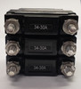 CA3-B0-34-630-211-C, Carling, C series, triple pole circuit breaker, stud terminals, 3 pole circuit breaker, 30 amp 3 pole circuit breaker