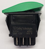 VJDAS00B-AZX00-000-XGRN1, dpdt, carling, v series, contura, rocker switch, on off on, maintained, special green actuator, 138431
