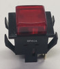 spa1a1m9, alternating action, square push button, push on push off, spst, s series, oslo, red cap,