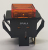 spa1a3m9, alternating action, square push button, push on push off, spst, s series, oslo, amber cap,