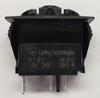 V1B1BD0B Carling V Series Rocker Switch, On-Off, Single Dependent 24 Volt Red LED