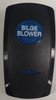 VVGWC, Bilge Blower Switch Cover, Black with 1 Blue Oval Lens, 1 Blue Bar Lens, Carling, rocker switch actuator, bilge, blower, bilge switch cover