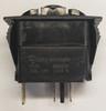switch, marine, auto, rocker, on-off, single pole, sealed, Carling, V Series, one lamp, lit switch, amber led, V1D1BN0B