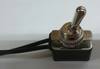 Toggle switch, single pole, on-off, wire leads, single pole, on off plate, hardware included