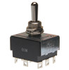 toggle switch, 3 pole, on off on, solder terminals, 3pdt, maintained, triple pole, double throw, R13-432,7910013,hm250-73
