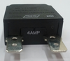 1480-301-040, mechanical products 4 amp push to reset circuit breaker, black button, spade terminals, 1480 series, mechanical products, marine circuit breaker, 043-1004b