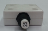 """Mechanical Products, 25 amp, push to reset breaker, 3/8""""-27 bushing, quick connects, amp stamp, 1680-037-250, 303378, 572357, 953645, pt-cb25"""