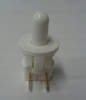 EMB Plunger Switch 811-9016, white, normally closed, single pole