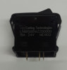 L14B1S001-AZZ00-000 Carling On-On Rocker Switch with no lamps, Hard Black Actuator ,00004811,00005021,0322-gg3-038,1001747,130196,130196GT,31650
