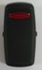 Carling, L Series, switch cap, actuator, black, one red bar lens, LLAPZ00-000