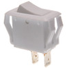 appliance size white rocker switch, single pole, momentary, spring return to off position, quick connects,7400016,g1-16-u