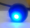 Single pole On-Off Black round Rocker, Blue Dot LED, 187 tabs,