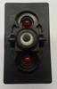 V1D1GCCB, switch, marine, auto, rocker, on-off, single pole, sealed, Carling, V Series, two lamps, lit switch, LED, RCV-37112448, 033-0171, 75302-44