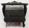 V1D2A60B, switch, marine, auto, rocker, on-off, single pole, sealed, Carling, V Series, two lamps, lit switch, RCV-00007696