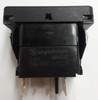 switch, marine, auto, rocker, on-on, single pole, sealed, Carling, V Series, 2 independent lamps, raised bracket, V4D1WHH1,421-0001362