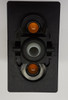 switch, marine, auto, rocker, on-off-on, single pole, sealed, Carling, V Series, two independent amber LEDs, V6D1WNNB