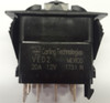 Carling V Series rocker switch single pole,  on-on-on maintained, 1 ind. lamp, VED2160B,140970