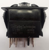vld1160b, Carling rocker switch, double pole, double momentary, spring return to off position, V Series, 1 ind lamp, VLD1160B, 12517, 00017164