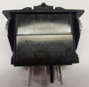 Carling rocker switch, double pole, double momentary, spring return to off position, V Series, no lamps,  VLD1S00B, 00017166, 028-0460, 033-0424, 20535, 711601035, 251207, 3975111, 502362, p-0576-hw, p2001202, sw3-28,RS-CAR-007,NP-VLD1S00B