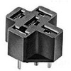automotive relay socket for wire harness, 5 pin relay socket, pc board mount terminal