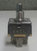 6G754A. fan speed control switch. rotary switch. blower switch. 4 position. 3 speed. short shaft. 1 inch square metal case. Indak.