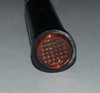 indicator light, 14 volt, amber, incandescent, quick connects, flush diamond lens, Solico, 2435-3-20-20320