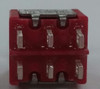 miniature toggle switch, solder lugs, double pole, on & momentary on, momentary, e switch, 100dp2t1b1m1qeh