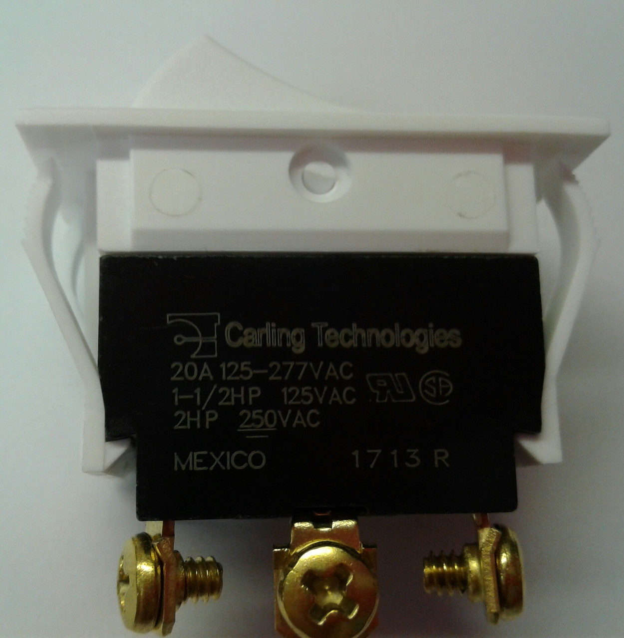 Tigc724 6m Wh Nwh Xdl1 Carling Rocker Switch On Off White Toggle 20 Amp Sealed Screw Terminal Spdt Onoffon Terminals