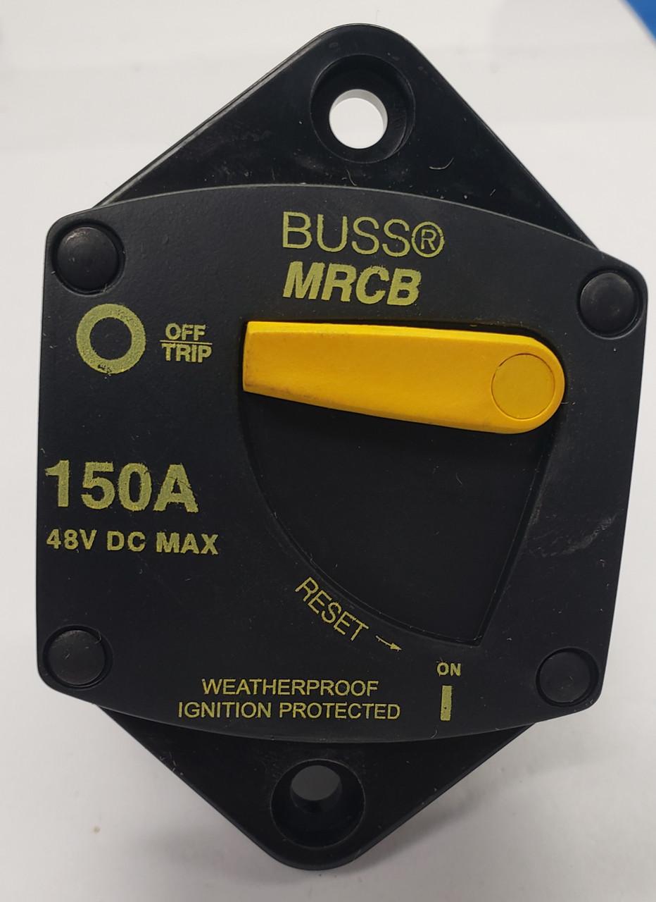 Bussmann 187150F-03-1 MRCB 150A 48Vdc Weatherproof Manual Reset Circuit Breaker