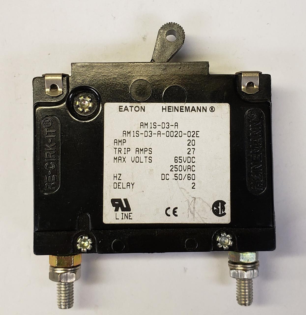 HEINEMANN  5A 250 V 1-Pole Breaker 5 Amp 250 VOLT AC AM1-A2-A-0005-02E
