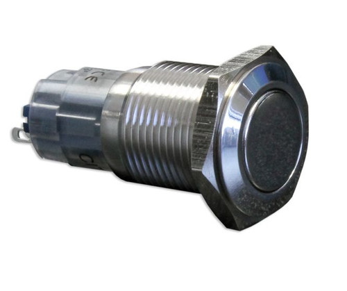 16 mm, push button, anti vandal, stainless, latching, double pole, CH2LDSS