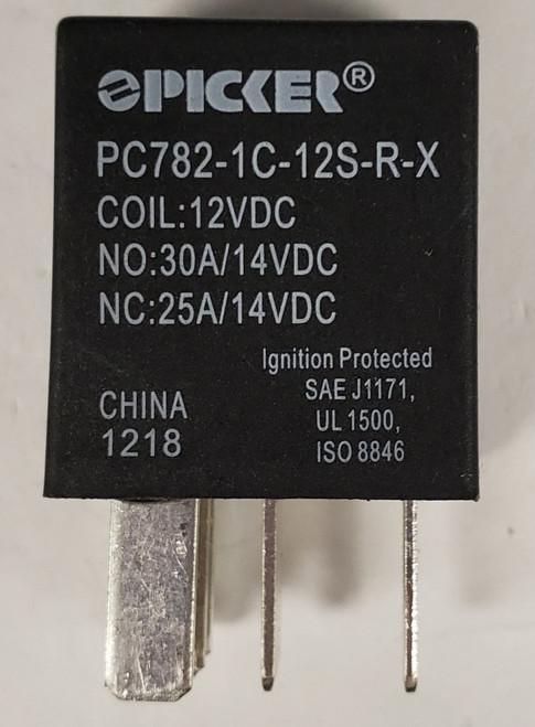 sealed, micro, relay, automotive, internal resistor, 12 volt coil, spdt, PC782-1c-12s-r-x