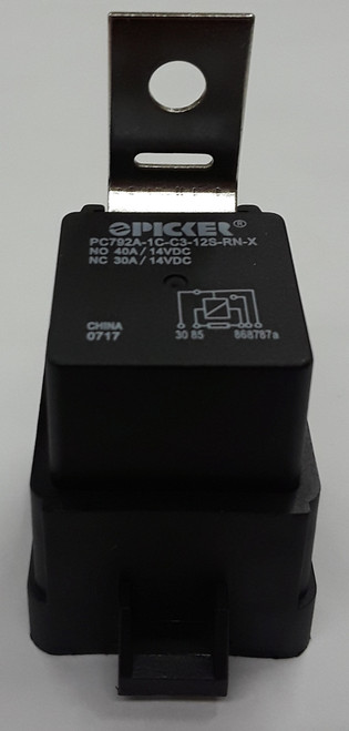 Automotive relay, 40 amps, plastic case, Resistor, Bracket, quick connect terminals, weather proof case