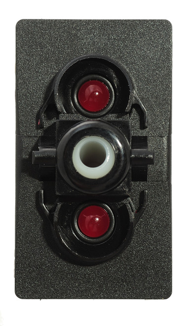 Carling, V series, single pole, illuminated, rocker switch, on-off, maintained, spade terminals, red leds, V1D1KTTB
