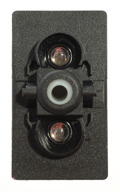 switch, marine, auto, rocker, on-off, single pole, sealed, Carling, V Series, 2 independent lamps, lit switch, momentary, V2D1W66B,46023516,75302-37