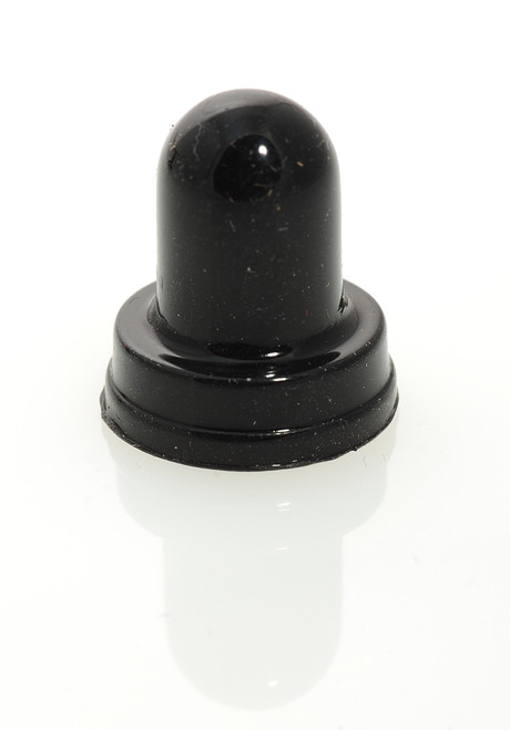 1680-330-1 Circuit Breaker Boot, Black, 3/8-27 thread, Dress nut style
