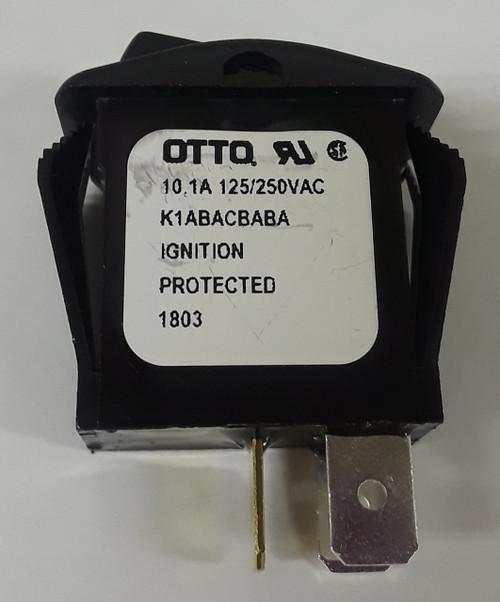 K1ABACBABA Otto SPST On-Off Illuminated Rocker Switch, 12 volt Red Indicator