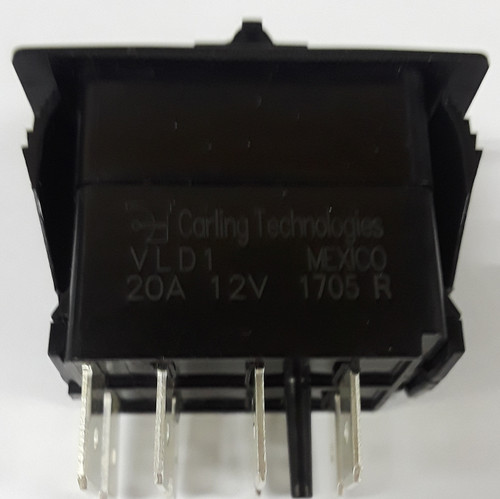 VLD1AX0B-00000-000-XLU1, Carling Rocker, Independent Blue Led, double momentary