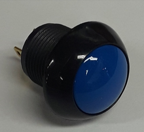 P9M-111126 Otto Latching On-Off Sealed Push Button Switch, Blue Button, sealed