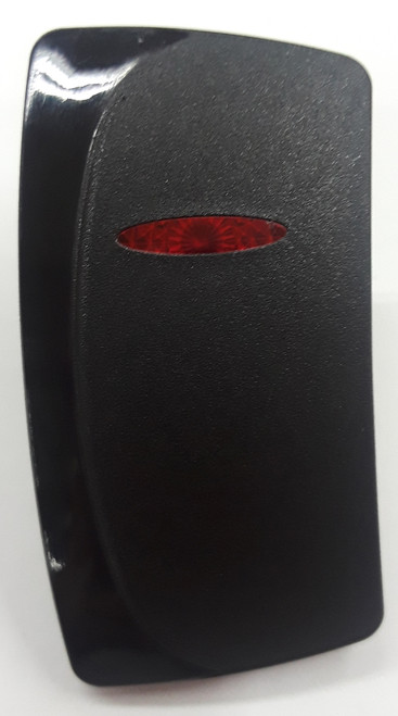 carling, contura, v series, rocker switch actuator, switch cap, 1 red bar lens, left orientation, VVEMC,033-2000,2-2608,N10202614,P2140001