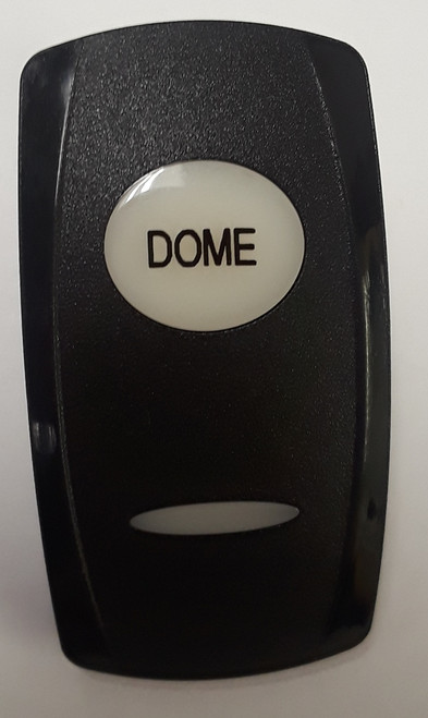 Dome Carling V Series Custom Rocker Switch Actuator, Dome imprinted on white lens