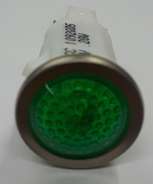Green 12 Volt Round LED Indicator Light, Spade Terminals, 1092QD5-12V