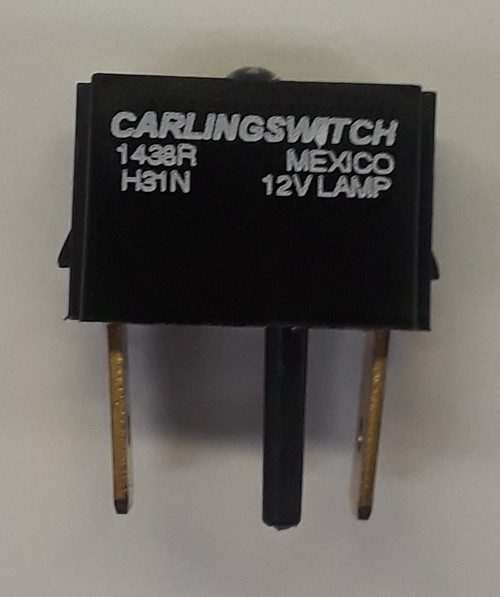 H31N Carling V Series Amber LED Indicator Light Lamp Module, 12 volt