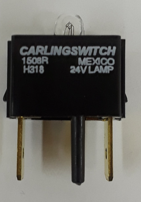 H318 Carling V Series Incandescent Indicator Light Lamp Module, 24 volt