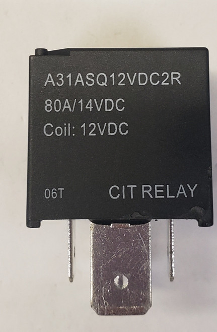 CIT, 80 amp, automotive relay, normally open, heavy duty relay, spade terminals, resistor, A31ASQ12VDC2R,  GZ130026-001