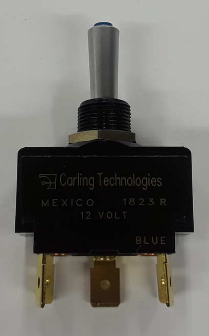Carling, Lit Tip Toggle LT-1561-604-012, satin chrome bat, blue tip, .250 quick connects, maintained,40400008,n10203397