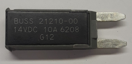 21210-00 Cooper Bussmann Type 2 mini circuit breaker, modified reset, 10 amps, 14 vdc