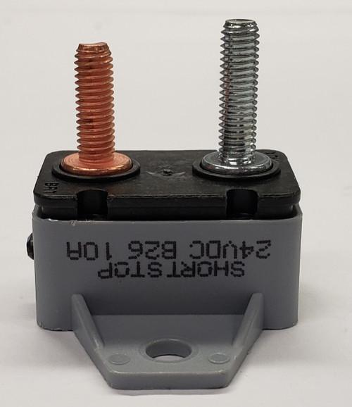 10 amps, circuit breaker, short stop, cooper bussmann, plastic cover, bracket, stud terminals, type 3, manual reset, 1230a10-a2p